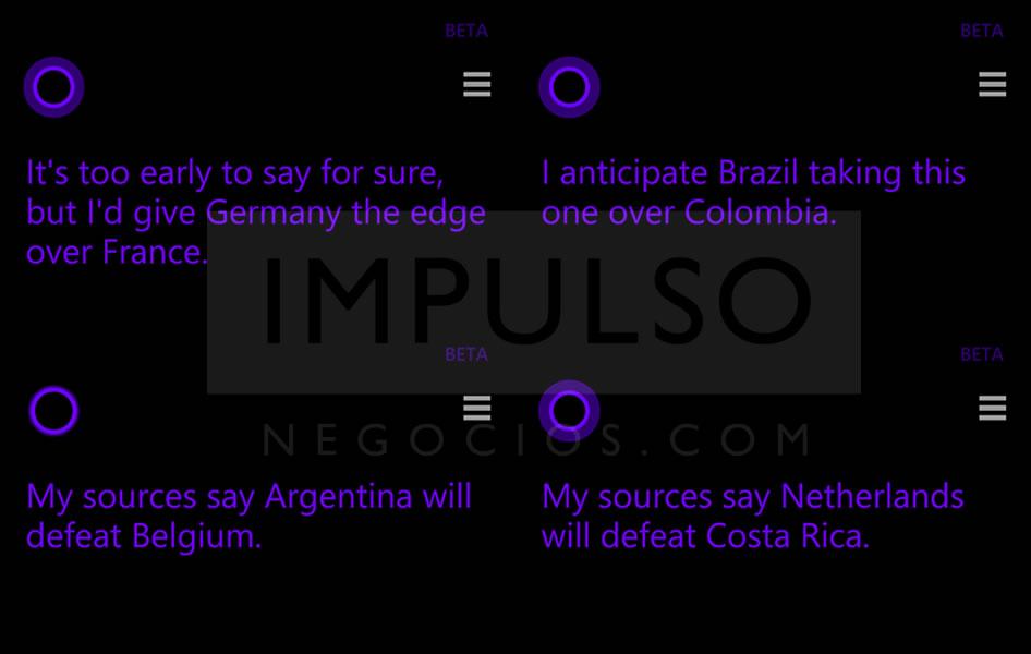 Cortana* predijo correctamente el 100% de los partidos ¿Qué dice ...